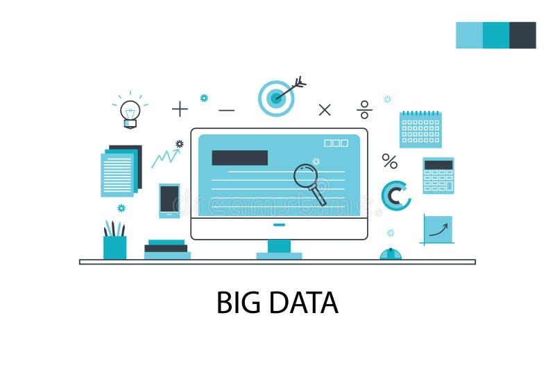 横幅的大数据企业概念 库存照片