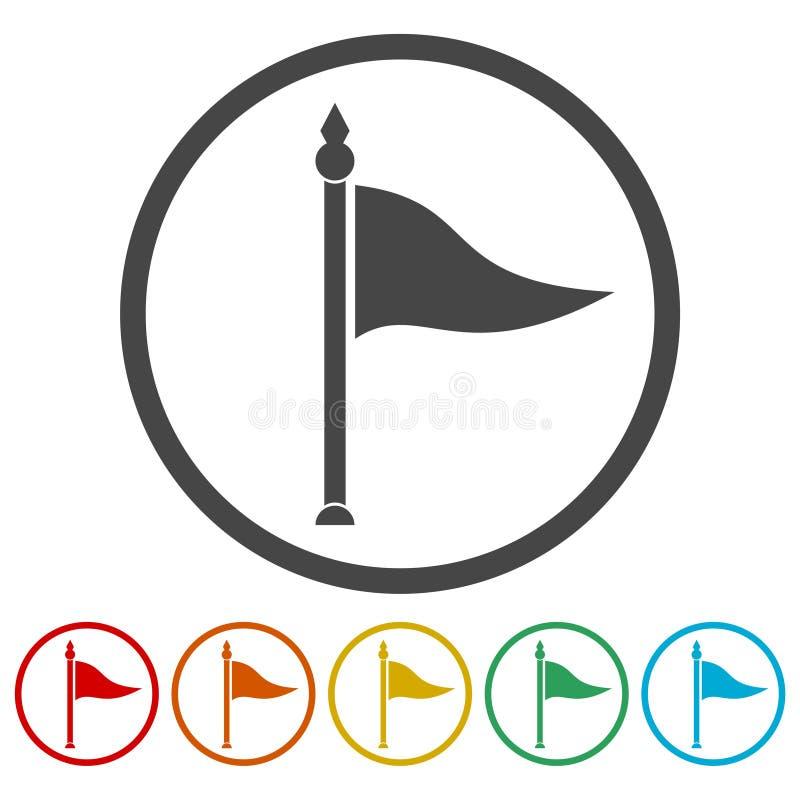 横幅的挥动的旗子象,介绍,网页 库存例证