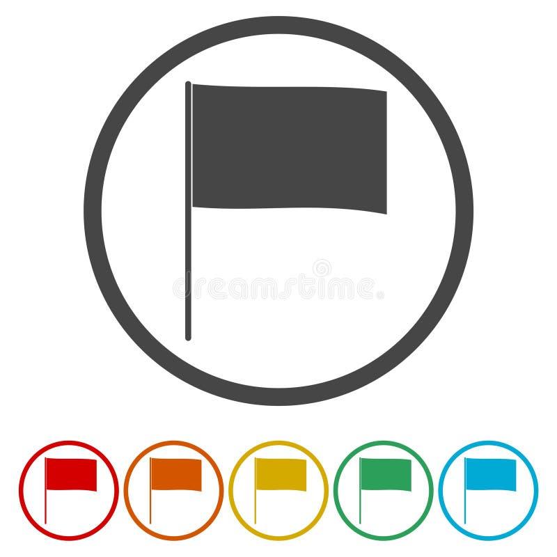 横幅的挥动的旗子象 向量例证
