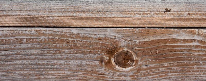 横幅的被风化的木纹理背景理想 库存图片