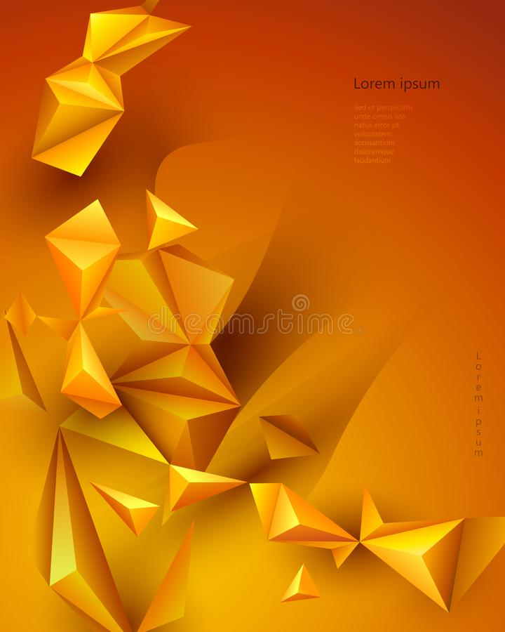 横幅的,模板,墙纸,网络设计传染媒介例证多角形技术背景 库存例证