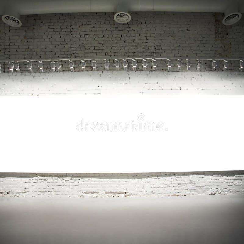 横幅空的墙壁白色 免版税库存图片
