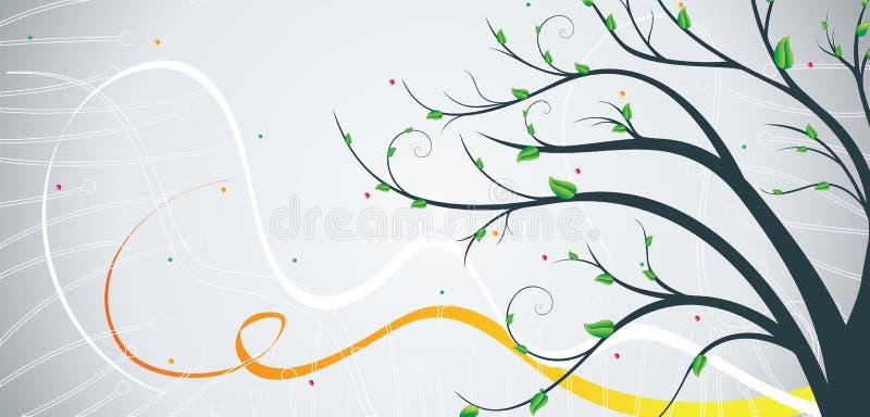 横幅结构树 向量例证