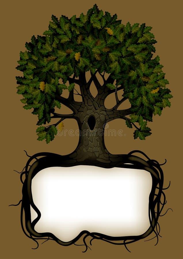 横幅结构树 库存例证