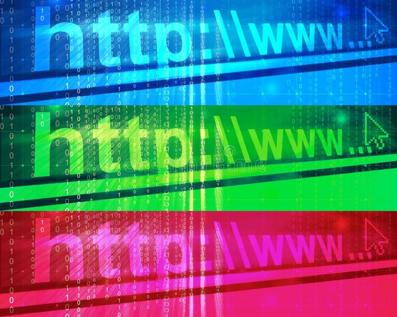 横幅网络连接 向量例证