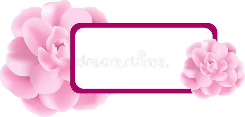 横幅花粉红色 皇族释放例证