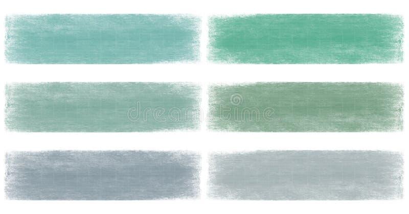 横幅蓝色退色的绿色grunge海军陆战队员& 向量例证