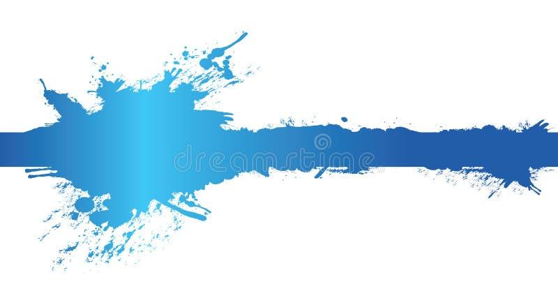 横幅蓝色飞溅 向量例证