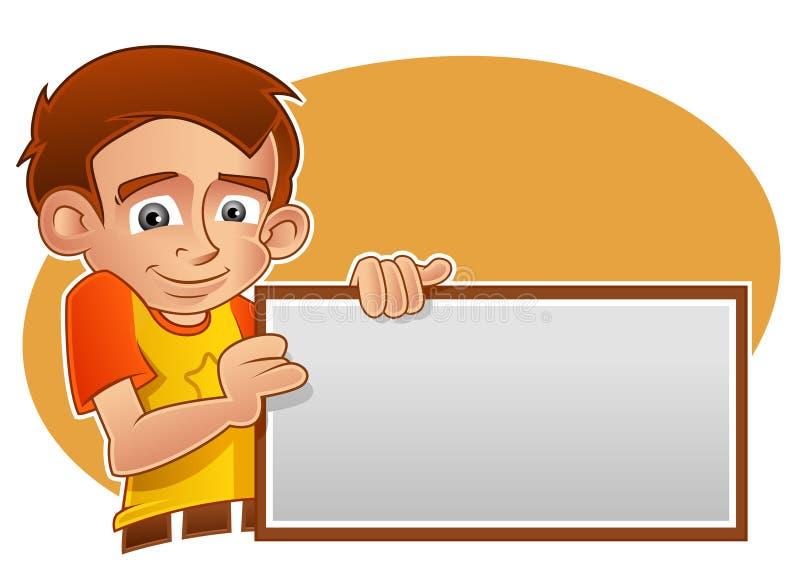横幅藏品孩子 向量例证
