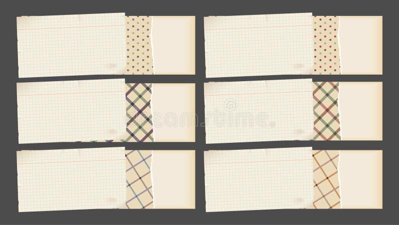 横幅装饰纸张 向量例证
