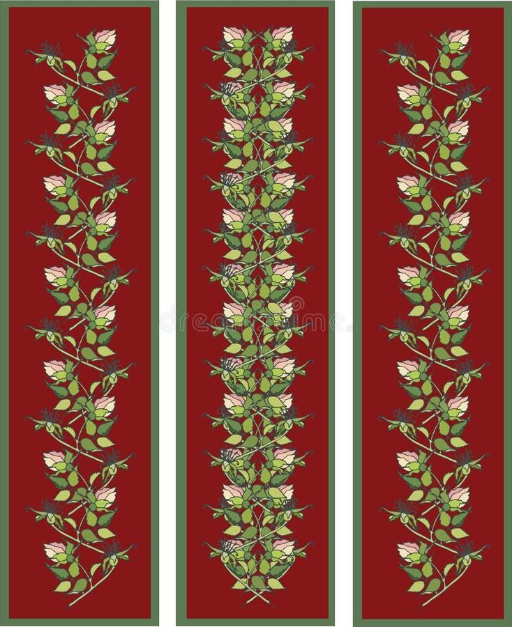 横幅要素花卉垂直 皇族释放例证