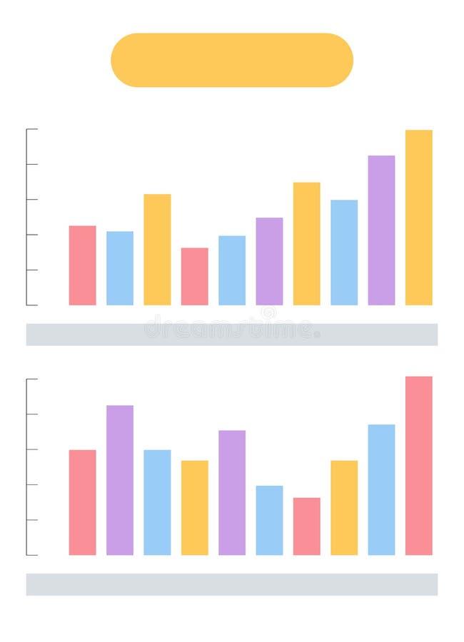 横幅设置与Infographics并且流程表信息 向量例证