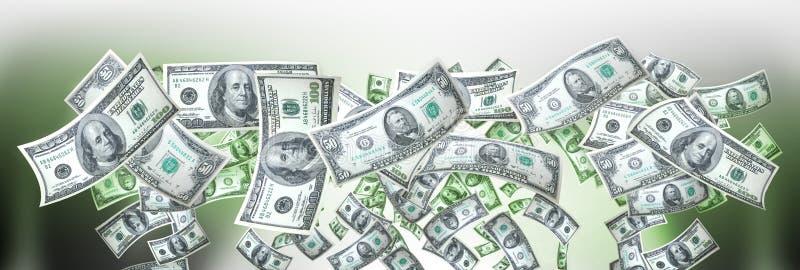 横幅货币 库存照片
