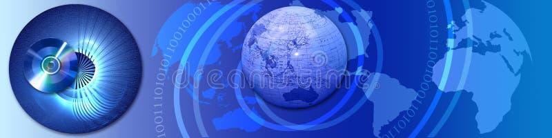 横幅连接数电汇世界 皇族释放例证