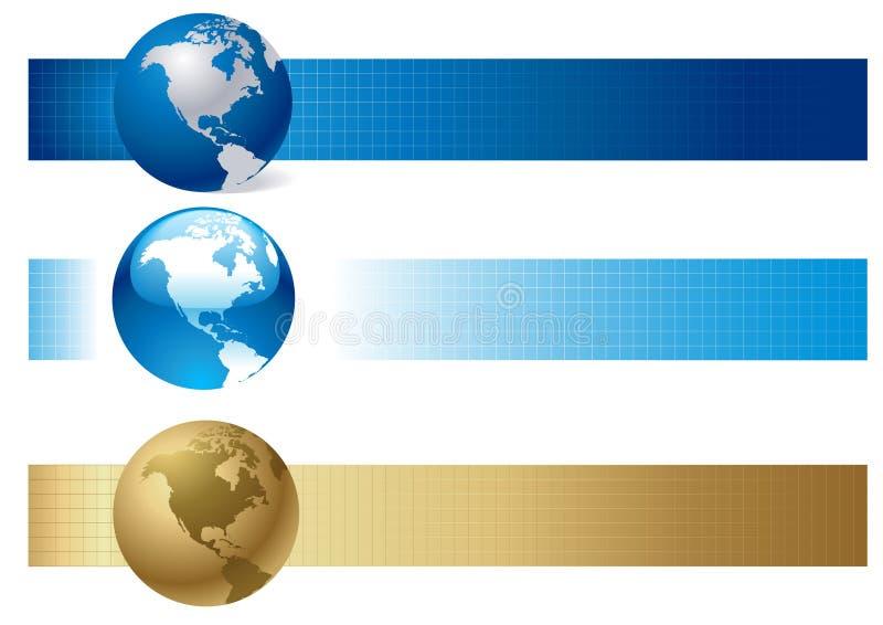 横幅选择世界 向量例证