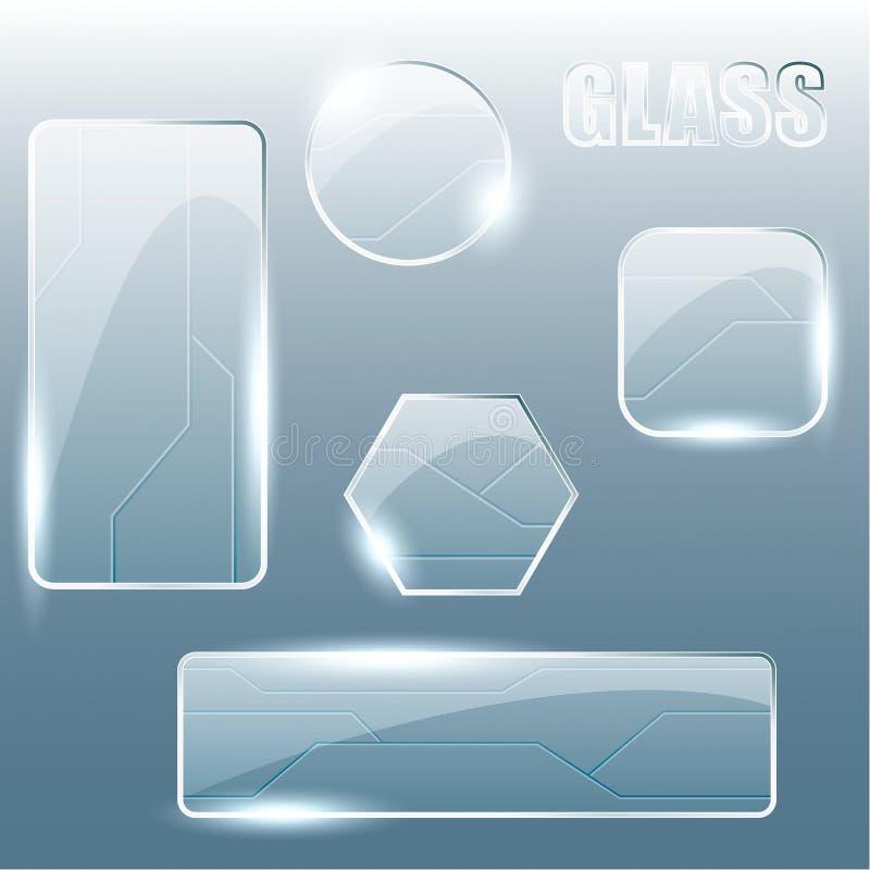 横幅透明收集的玻璃 皇族释放例证