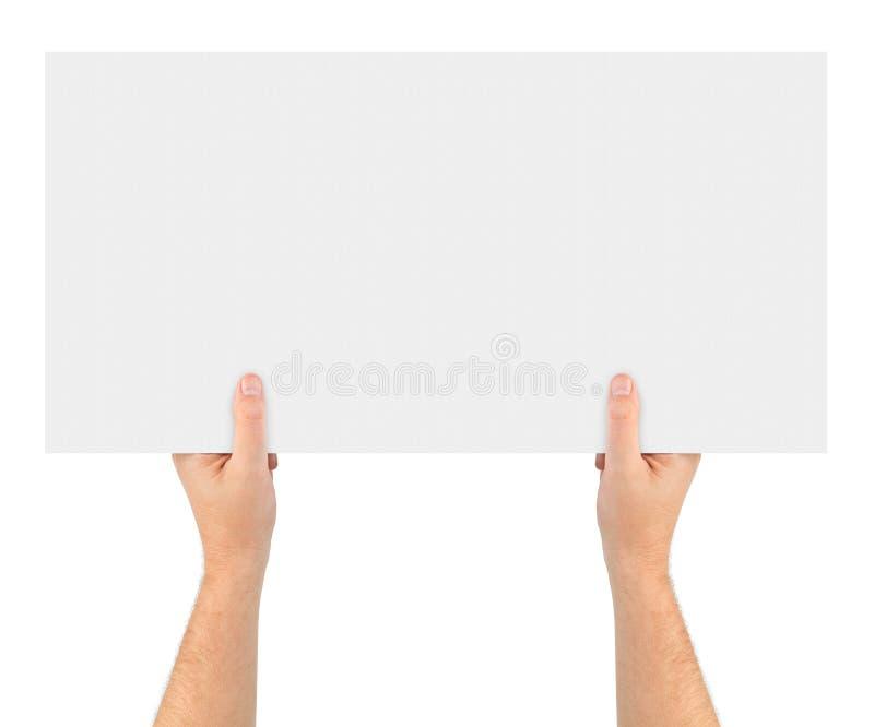 横幅递纸张 免版税库存照片