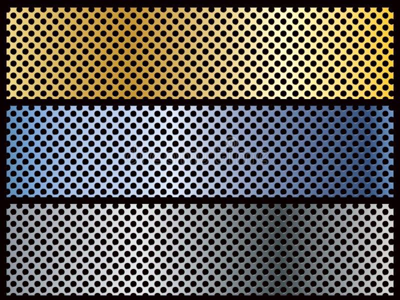 横幅金属模板 向量例证