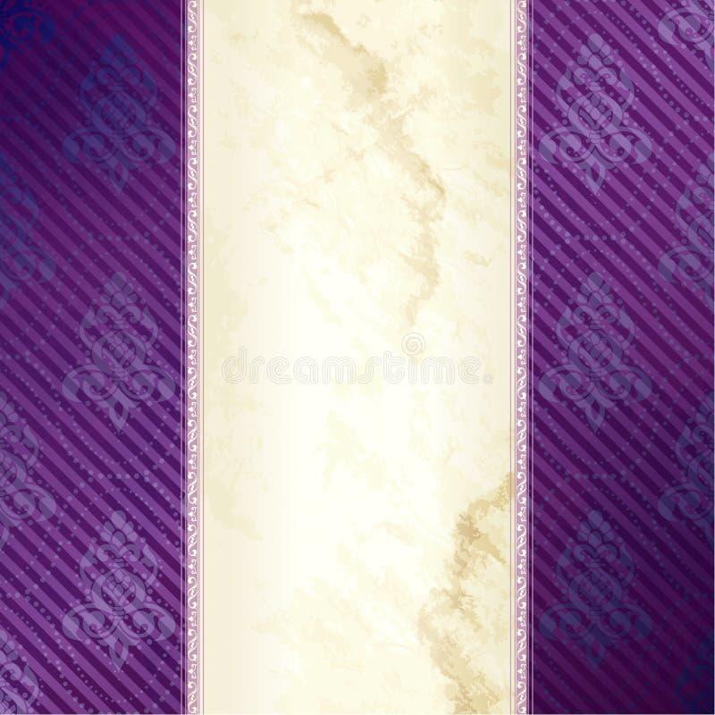 横幅金紫色垂直的维多利亚女王时代&# 库存例证