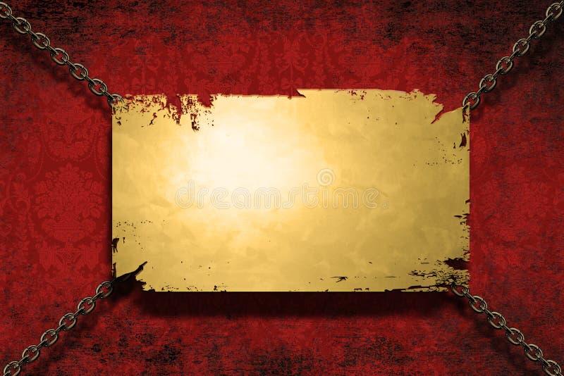 横幅链子拿着金属 皇族释放例证