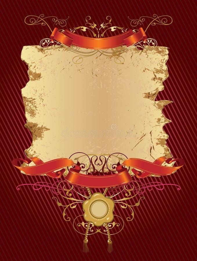 横幅颜色装饰红色 库存例证