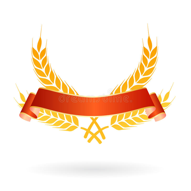 横幅食物徽标麦子 皇族释放例证