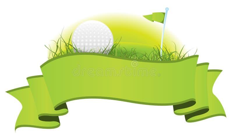 横幅高尔夫球 库存例证