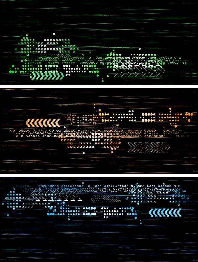 横幅黑暗技术 皇族释放例证