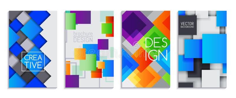 横幅,小册子抽象卡集导航例证 Minimalistic设计,创造性的概念,现代背景 皇族释放例证