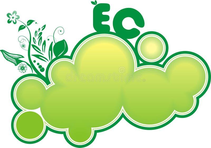 横幅eco 向量例证