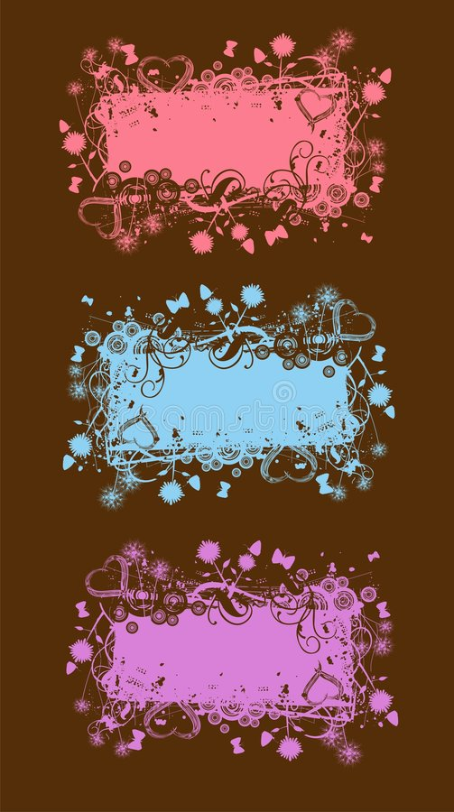 横幅grunge柔和的淡色彩 向量例证
