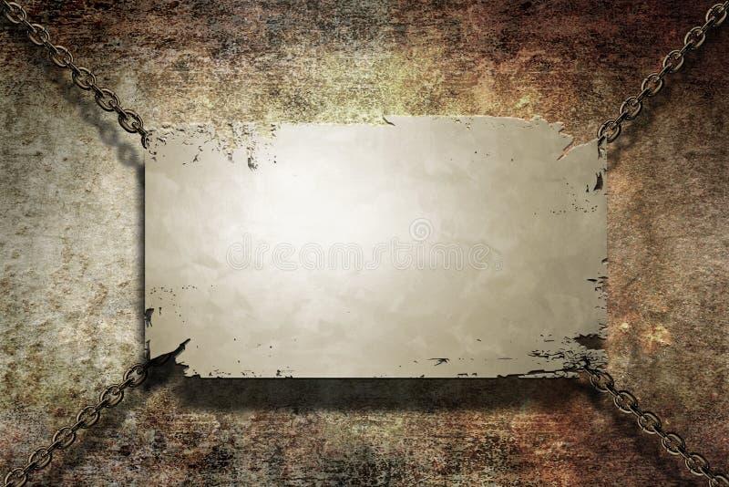 横幅grunge金属 皇族释放例证