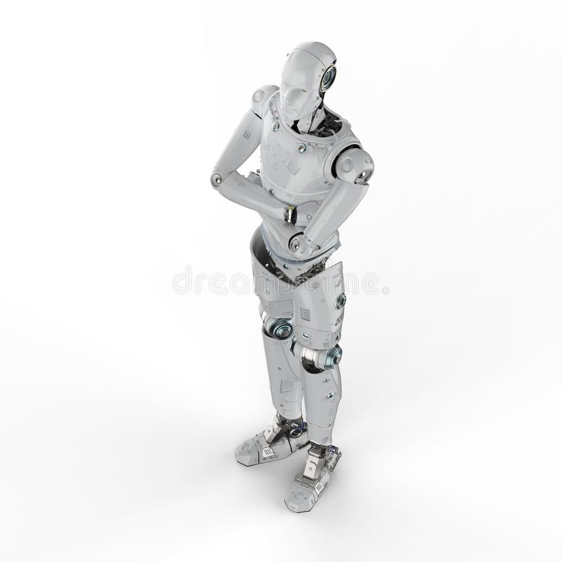 横渡的机器人胳膊 向量例证