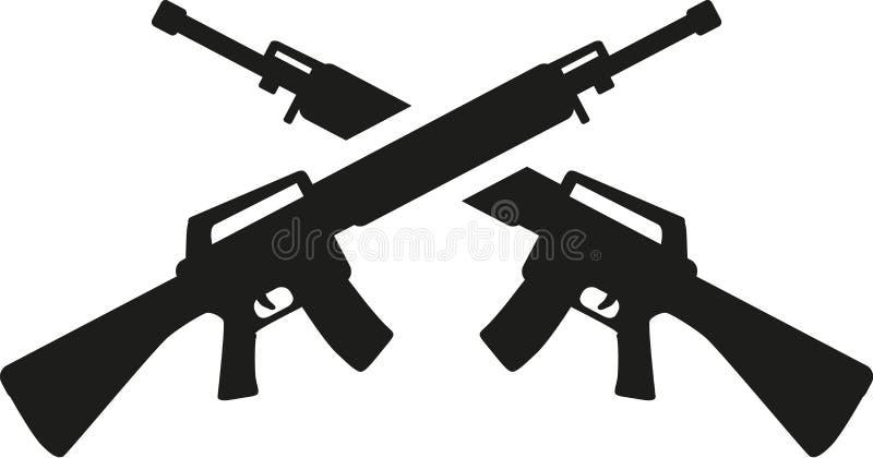 横渡的狙击步枪 向量例证
