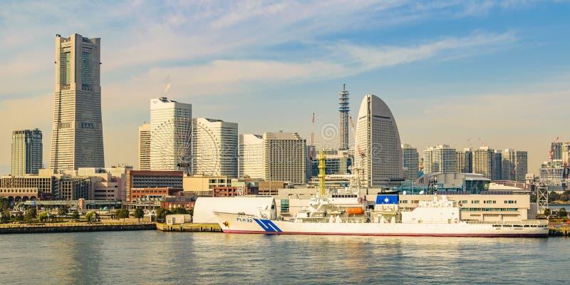 横滨海岸都市风景,日本 库存照片