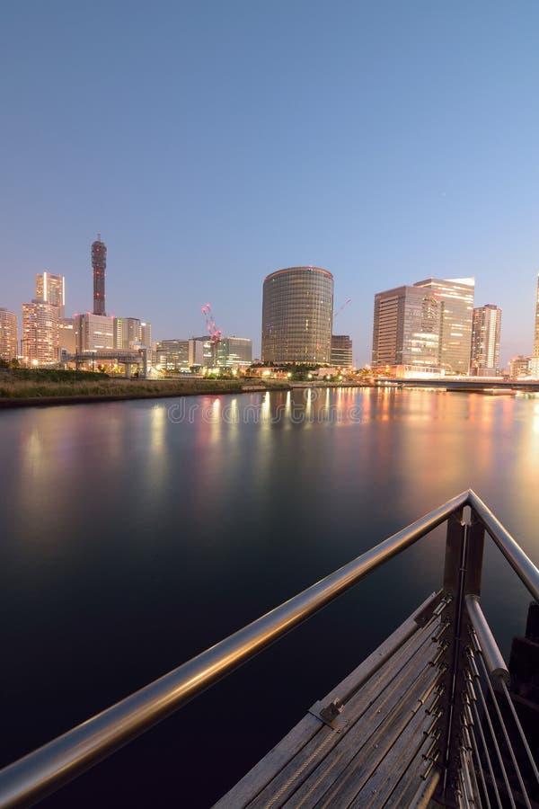 横滨,日本都市地平线  库存图片