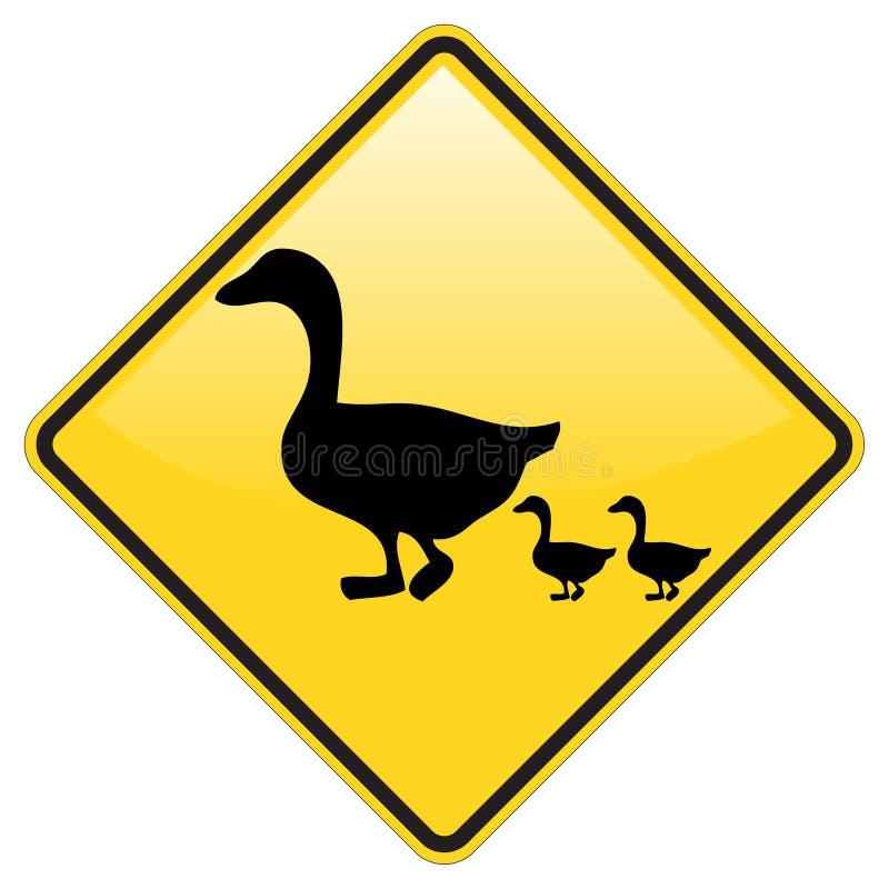 横穿低头警告 向量例证