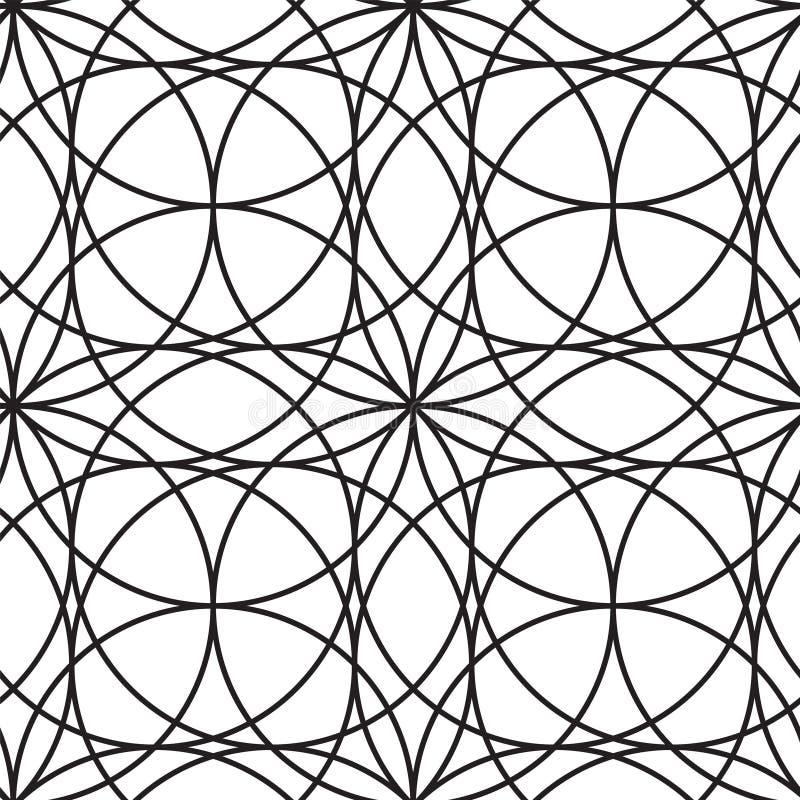 横穿冲程曲拱 现代典雅的几何圈子无缝的传染媒介样式 库存照片