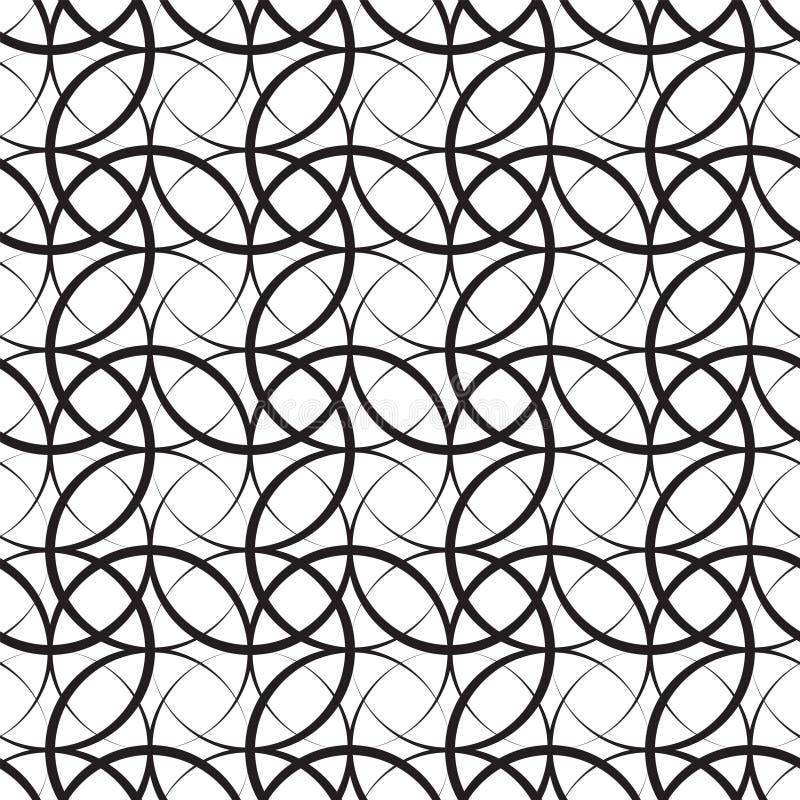 横穿冲程曲拱 现代典雅的几何圈子无缝的传染媒介样式 免版税图库摄影