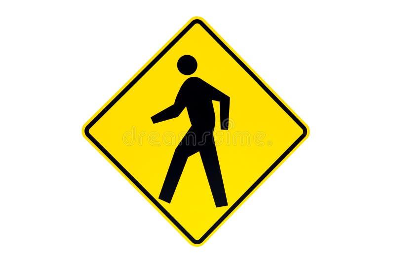 横穿查出的步行符号 图库摄影