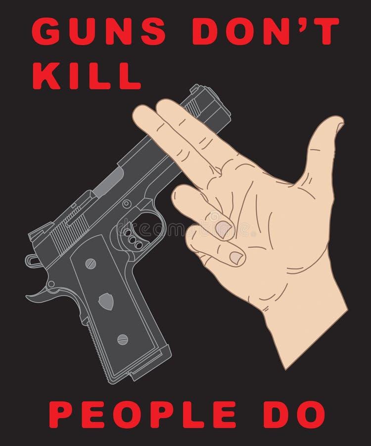 横穿现有量手枪 库存例证