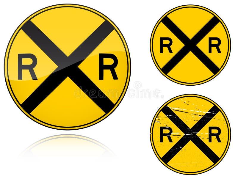 横穿级别路标变形警告 向量例证