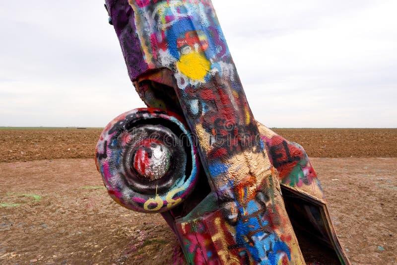 横穿美国,阿马里洛的颜色传奇 库存图片