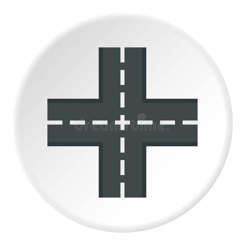 横穿路象圈子 向量例证