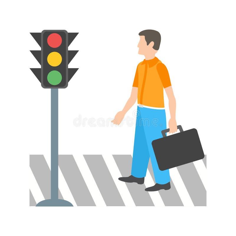横穿路 向量例证