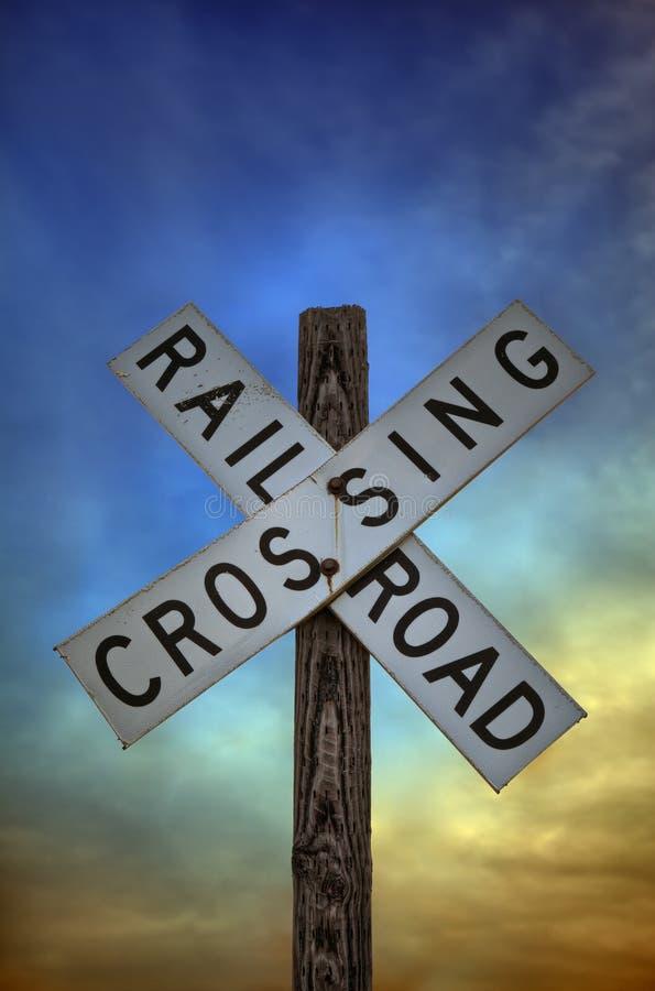 横穿铁路符号 免版税库存照片