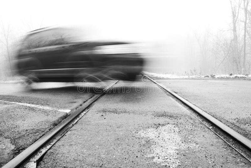 横穿铁路 免版税库存图片
