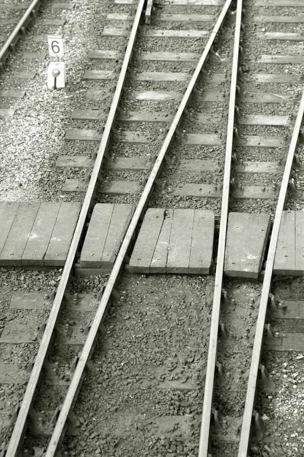 横穿铁路 免版税库存照片