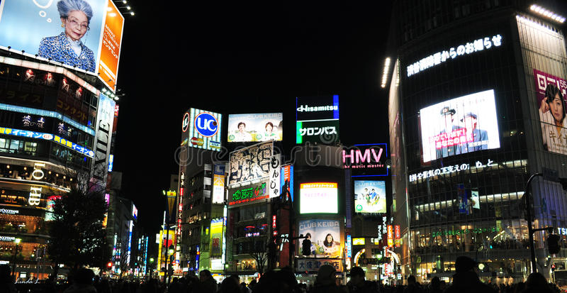 横穿shibuya 图库摄影