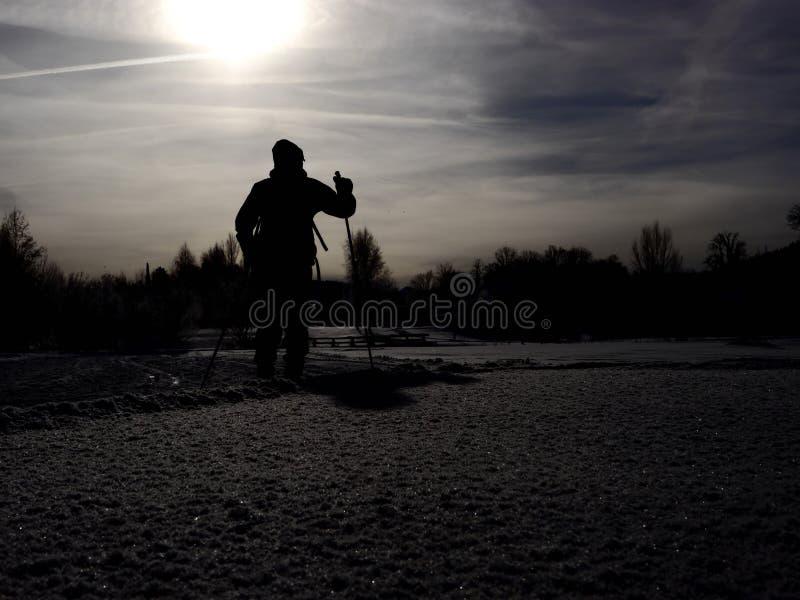 横越全国的滑雪 图库摄影